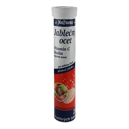 MedPharma Jablečný ocet+C+Inulin tablety šumivé 20