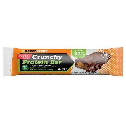 NAMEDSPORT Crunchy Protein Bar 32%, proteinová tyčinka, 40g, Choco Brownie