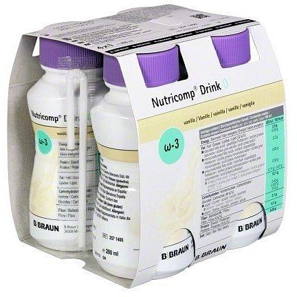 Nutricomp Drink D Vanilka roztok 4x200ml