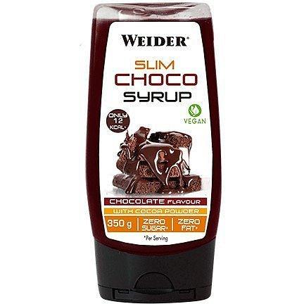 Weider Slim Choco Syrup, Vegan, čokoláda, 350 g