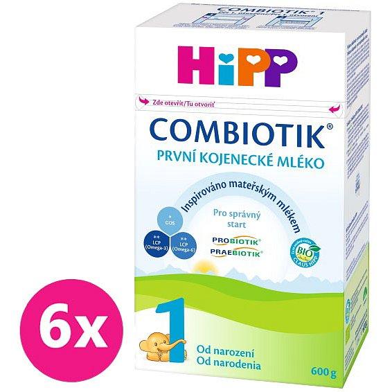 6x HIPP 1 BIO Combiotik (600 g) - kojenecké mléko