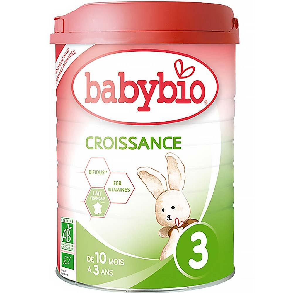 BABYBIO Croissance 3 kojenecká výživa v prášku 900 g, poškozený obal