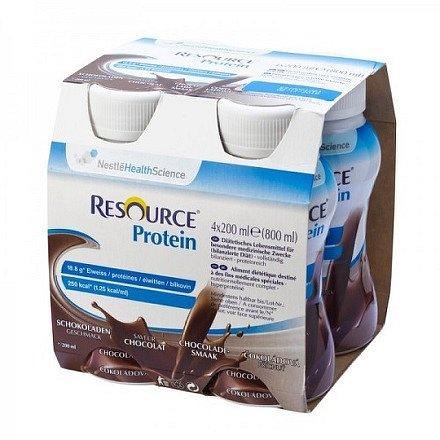 Resource Protein Čokoládový perorální roztok 4 x 200 ml
