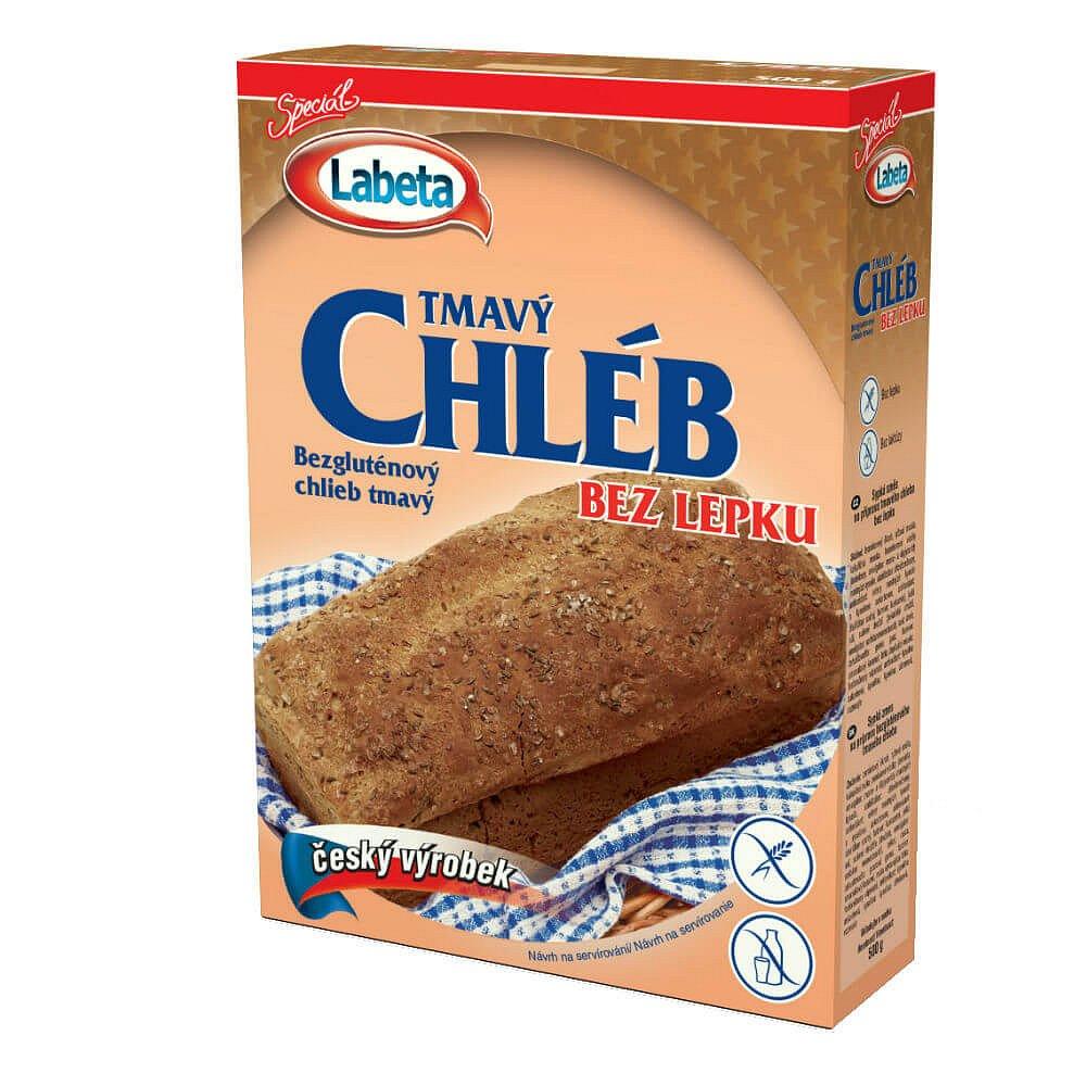 Bezlepkový chléb tmavý 500g Labeta
