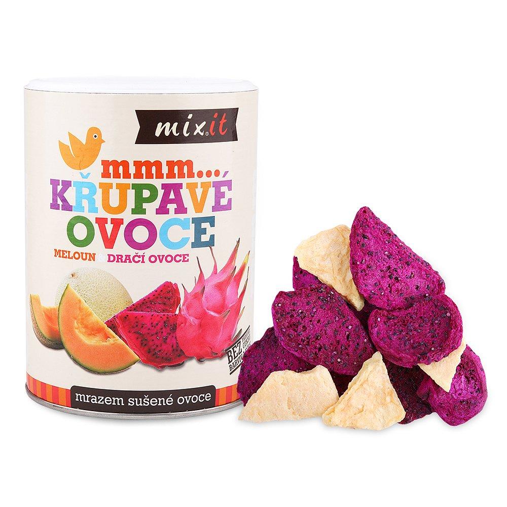 MIXIT Dračí ovoce & Meloun - křupavé ovoce 80 g