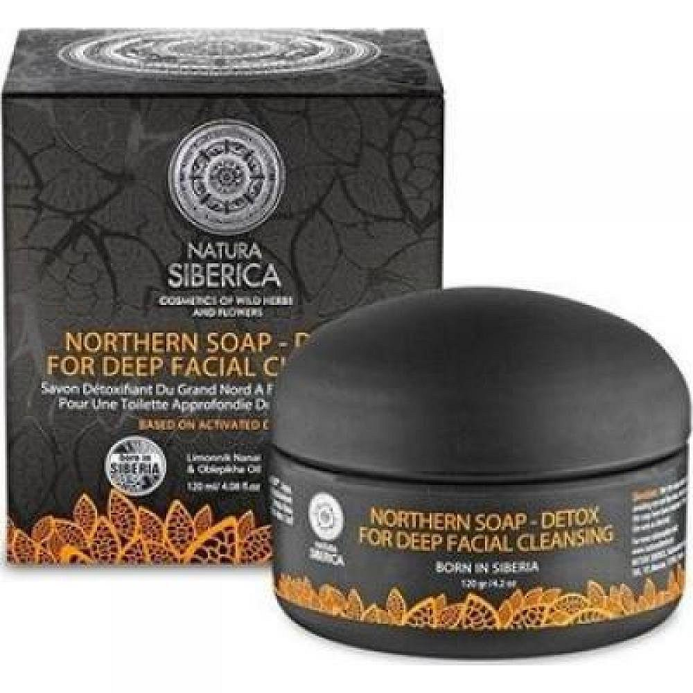 NATURA SIBERICA Severní mýdlo Detox pro hluboké čištění obličeje 120 ml, poškozený obal