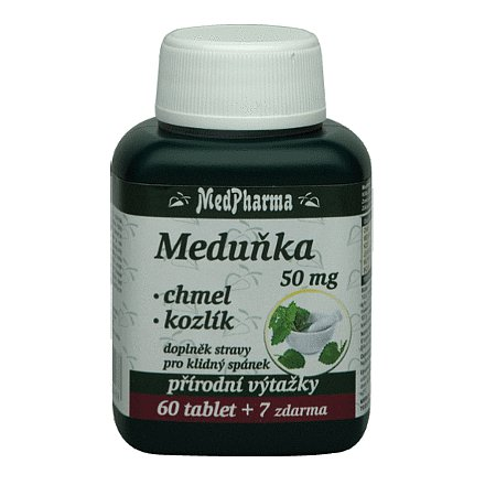 MedPharma Meduňka+chmel+kozlík orální tobolky 67