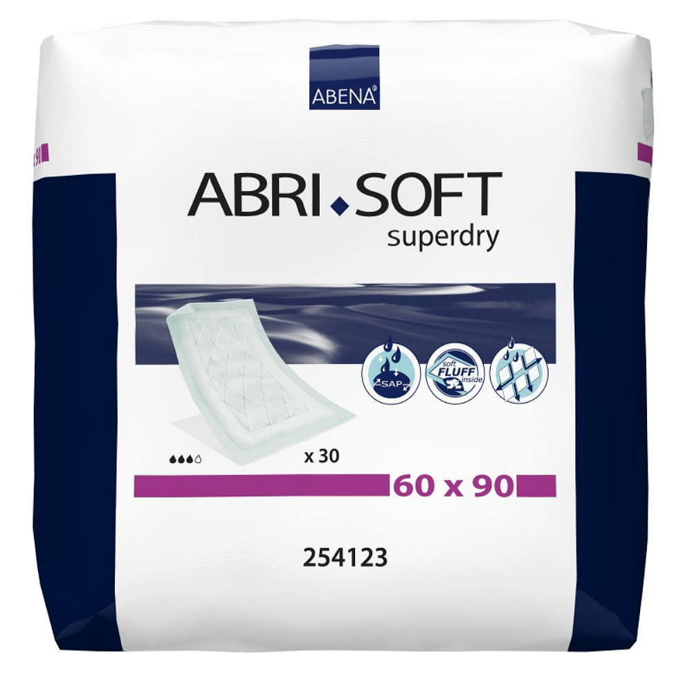 Inkontinenční podložka Abri-soft Superdry 30 ks 60 x 90 cm, poškozený obal