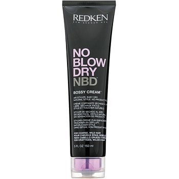 Redken No Blow Dry stylingový krém pro hrubé a nepoddajné vlasy s rychleschnoucím efektem  150 ml