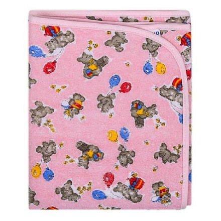 Přebalovací podložka Akuku 70x50 růžová s medvídky