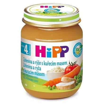 HIPP BABY MENU Zeleninová omáčka s rýží a kuřetem 125g