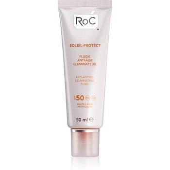 RoC Soleil Protect ochranný rozjaňující fluid proti stárnutí pleti SPF 50 50 ml