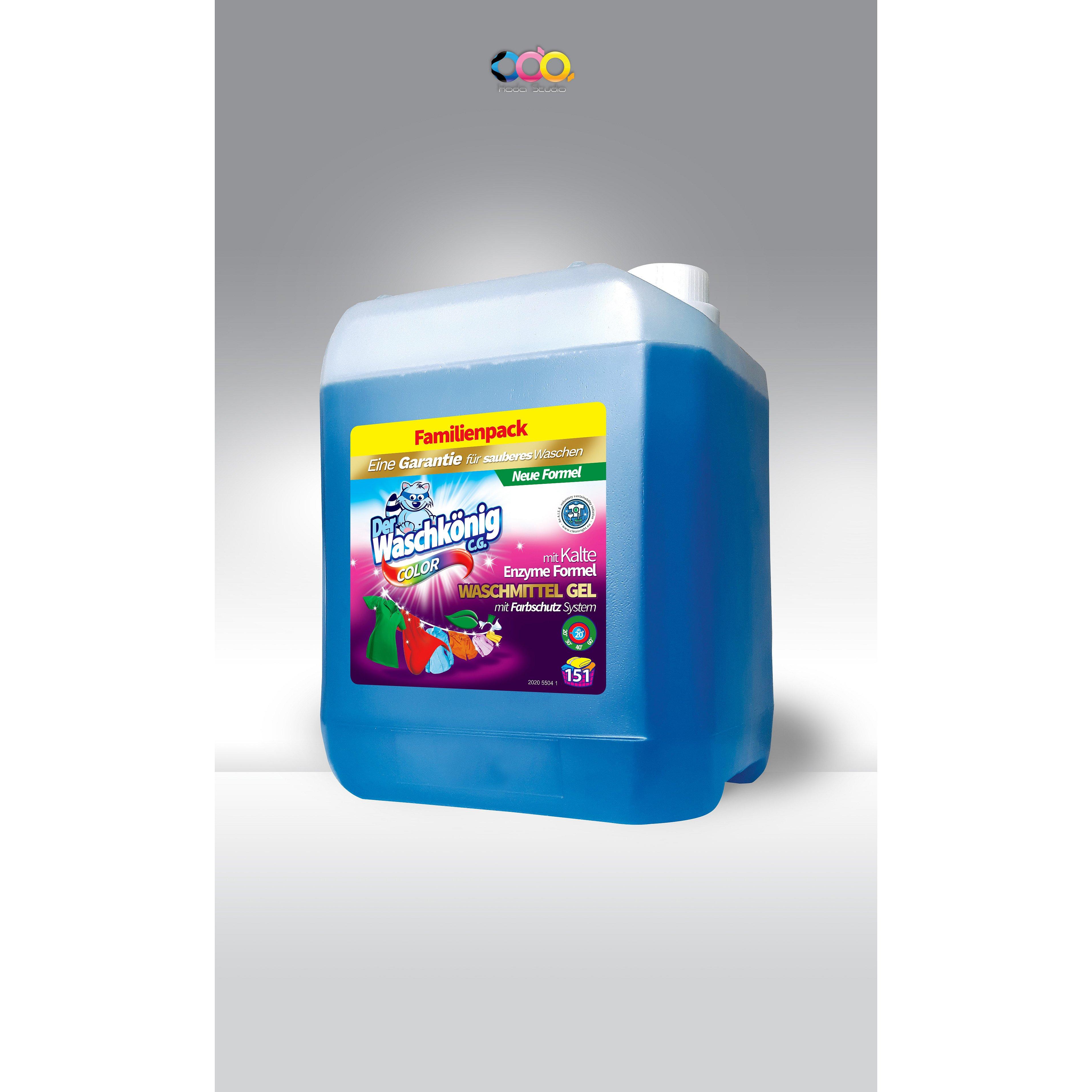 WASCHKÖNIG prací gel pro barevné prádlo 51 dávek 5,3 l