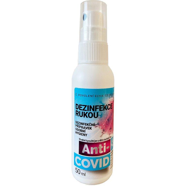 Anti-COVID dezinfekční přípravek rozprašovač 50ml