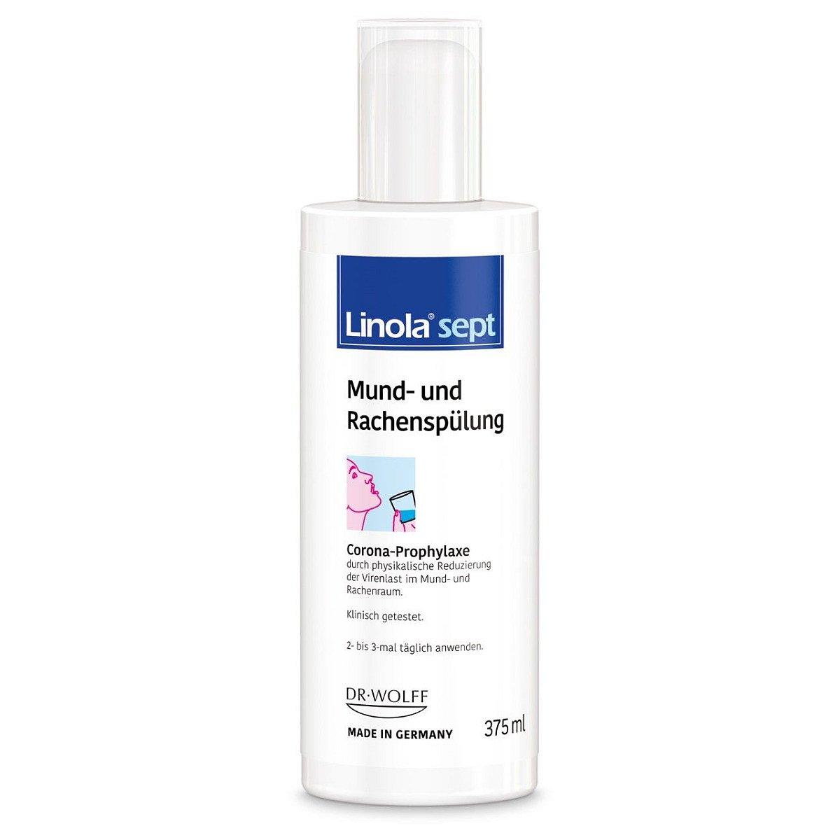 Linola sept Roztok ke kloktání a vyplachování úst 375 ml