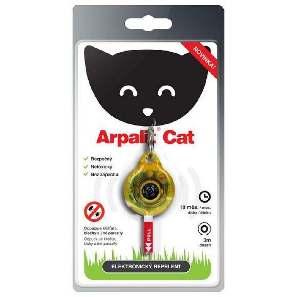 ARPALIT Cat Elektrický odpuzovač klíšťat pro kočky 1 kus, poškozený obal