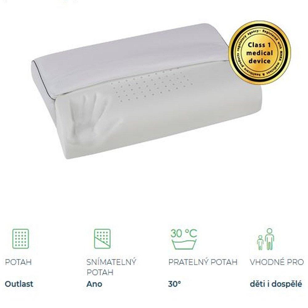 MAGNIFLEX Superiore Deluxe Wave zdravotní polštář 60x43x11/10
