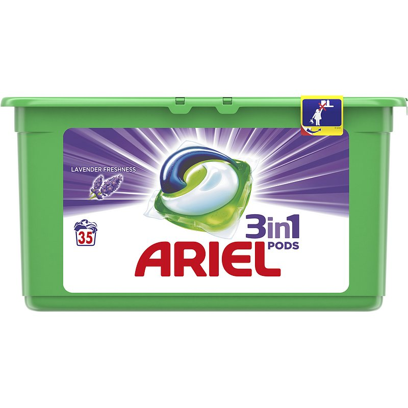 ARIEL Gelové kapsle Lavender 3in1 35 ks
