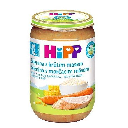 HIPP DĚTSKÉ MENU Zelenina s krocaním masem 220g