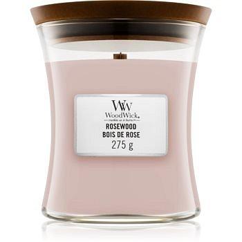 Woodwick Rosewood vonná svíčka s dřevěným knotem 85 g