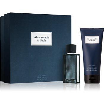 Abercrombie & Fitch First Instinct Blue dárková sada I. (pro muže) toaletní voda 50 ml + šampon a sprchový gel 200 ml