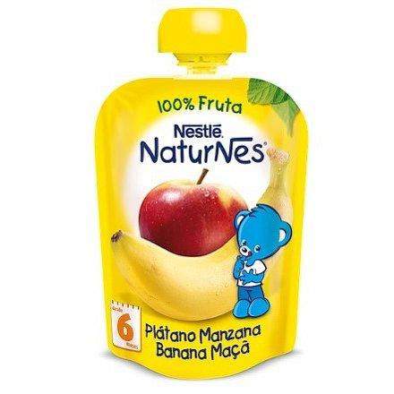 NESTLÉ kapsička ovocná Naturnes Banán/Jablko 90g
