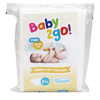Přebalovací podložka Baby2go! 60x60cm/3ks
