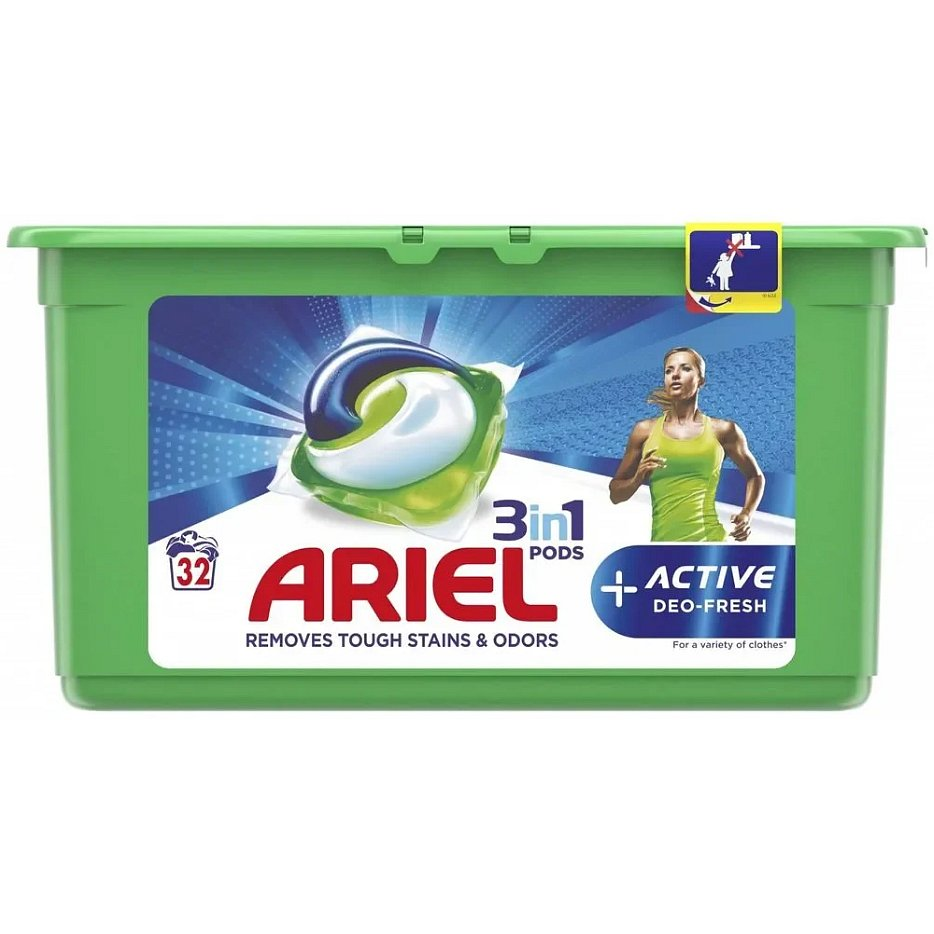 ARIEL Gelové kapsle Active Sport 3in1 32 ks