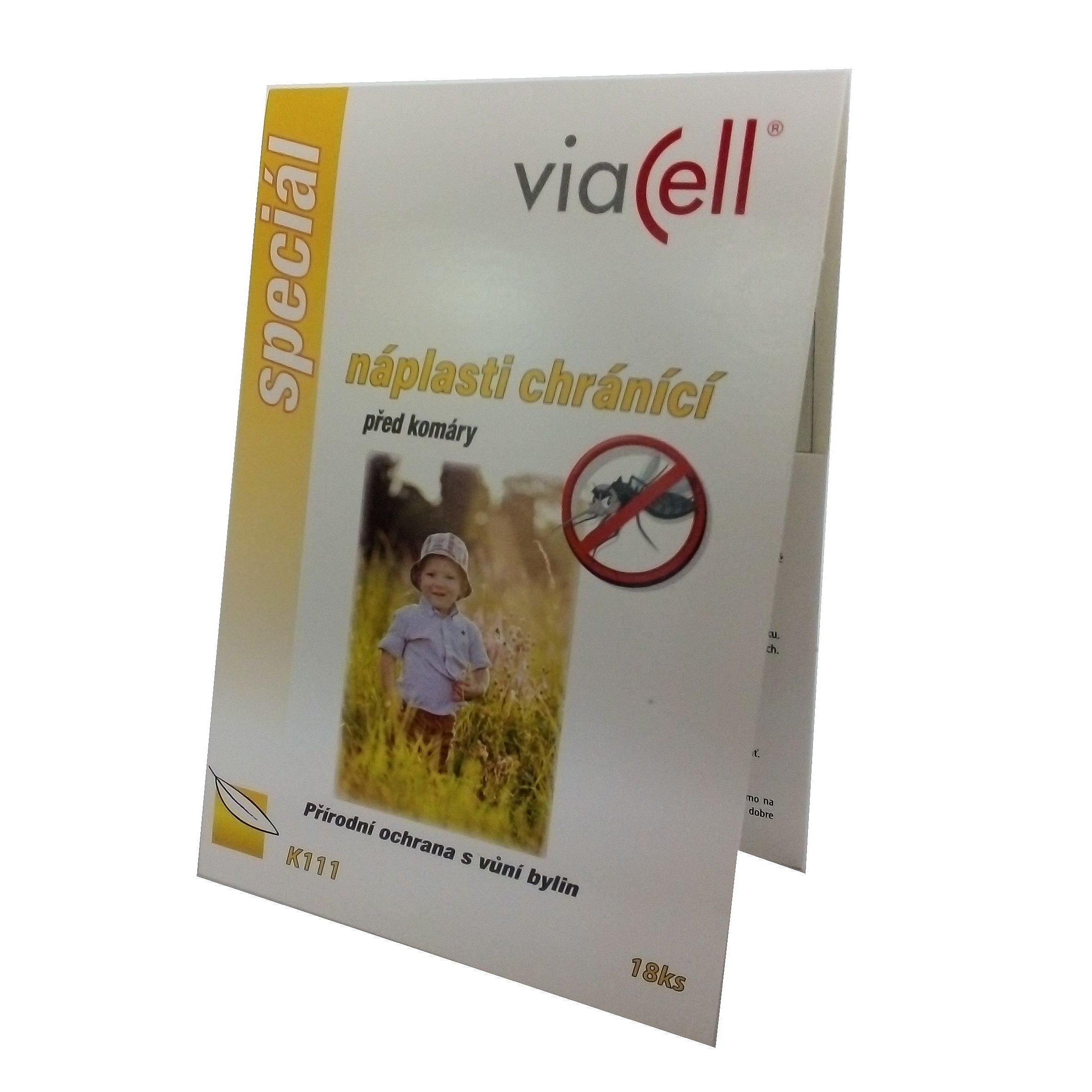 Viacell K111 Náplasti chránící před komáry 18 ks
