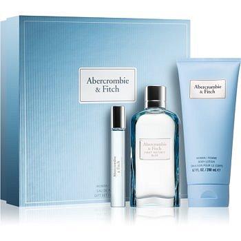 Abercrombie & Fitch First Instinct Blue dárková sada II. (pro ženy) parfémovaná voda 100 ml + parfémovaná voda 15 ml + tělové mléko 200 ml