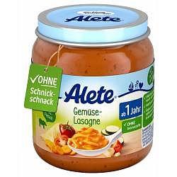 Alete BIO Příkrm lasagne se zeleninou 12m+ 250 g