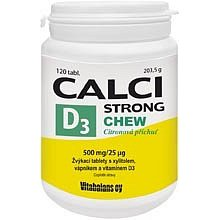 Calci Strong Chew+Vit.D 3 tablety 120 Vitabalans