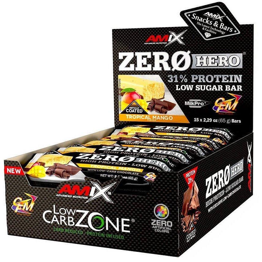 Amix Zero Hero 31% Protein Bar, Mango, 15x65g