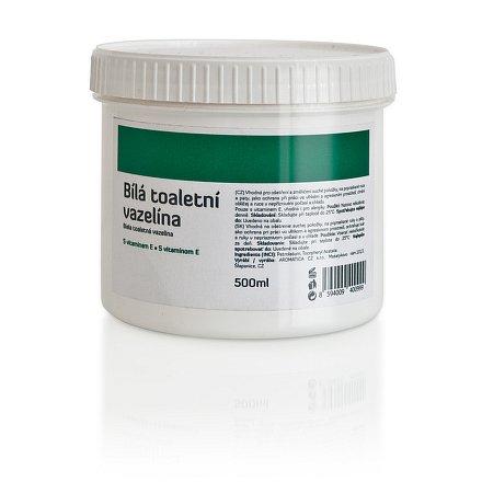 AROMATICA Bílá toaletní vazelína s vitamín E 500 ml
