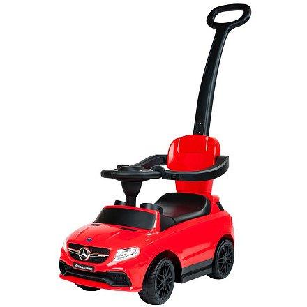 Dětské odrážedlo s vodící tyčí Mercedes Benz Bayo red