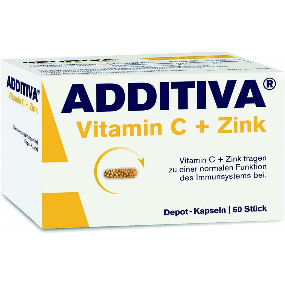 Additiva Vitamín C + Zinek tbl.60