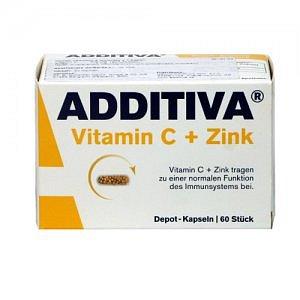 Additiva Vitamin C + zinek cps 60