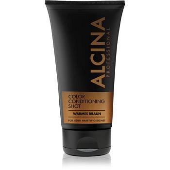 Alcina Color Conditioning Shot Silver tónovací balzám pro zvýraznění barvy vlasů odstín Warm Brown 150 ml