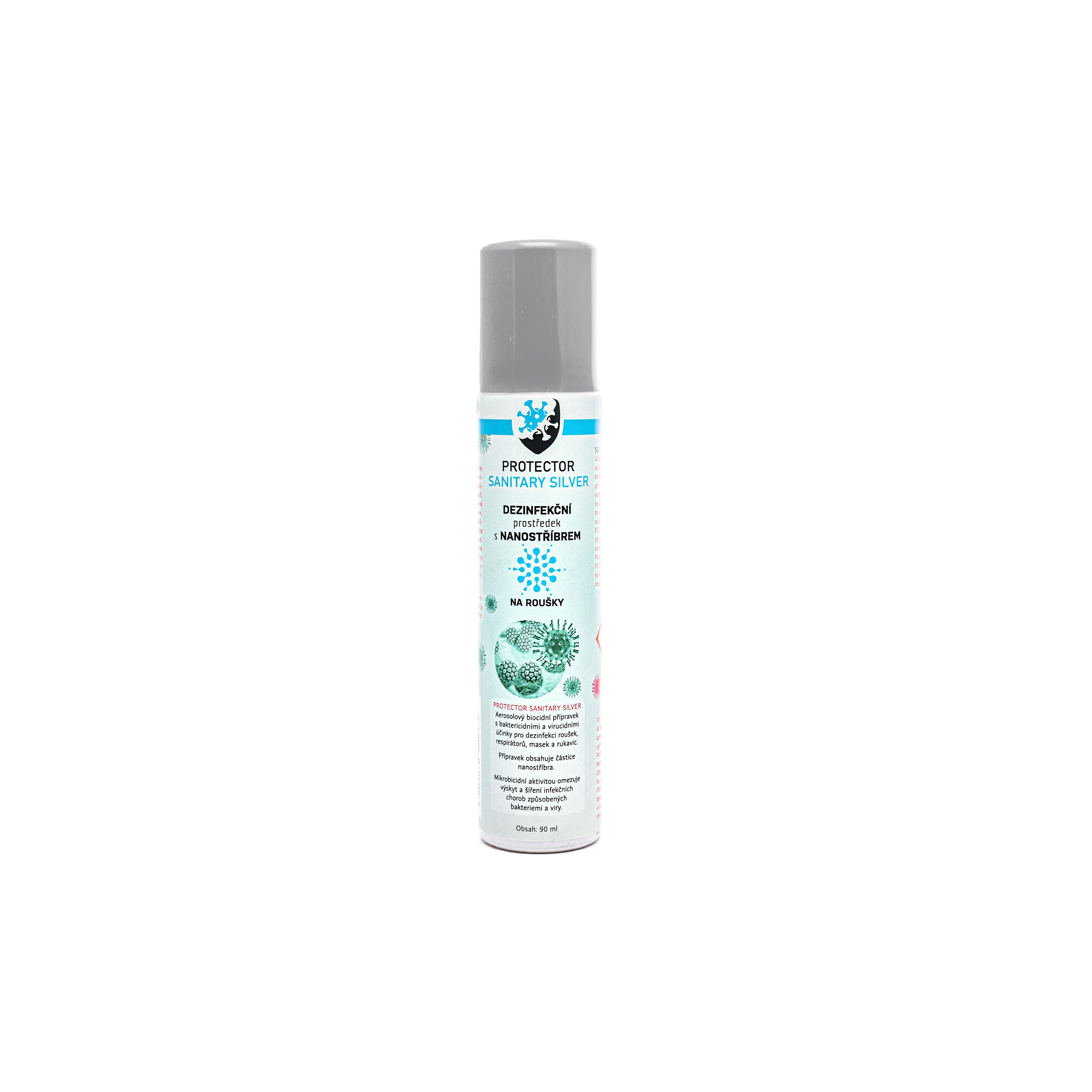 Protector Sanitary Silver Dezinfekční aerosol s nanostříbrem na roušky 90ml