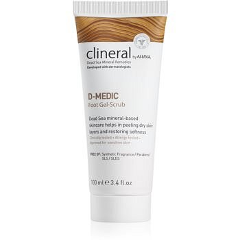 Ahava Clineral D-MEDIC jemný gelový peeling na nohy 100 ml