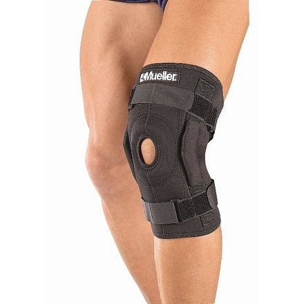 Mueller Hinged Wraparound Knee Brace, kolenní ortéza s kloubem, ovinovací  LG