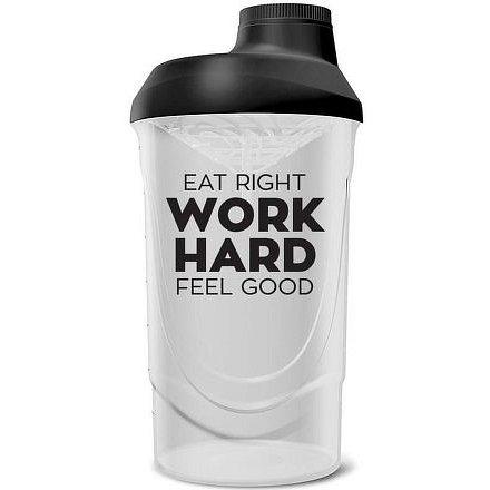 Bodylab Shaker bottle transparentní/černá 600 ml