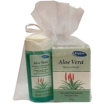 Kappus v organze Aloe vera tělový šampon 50 ml + tuhé mýdlo 50 g dárková sada