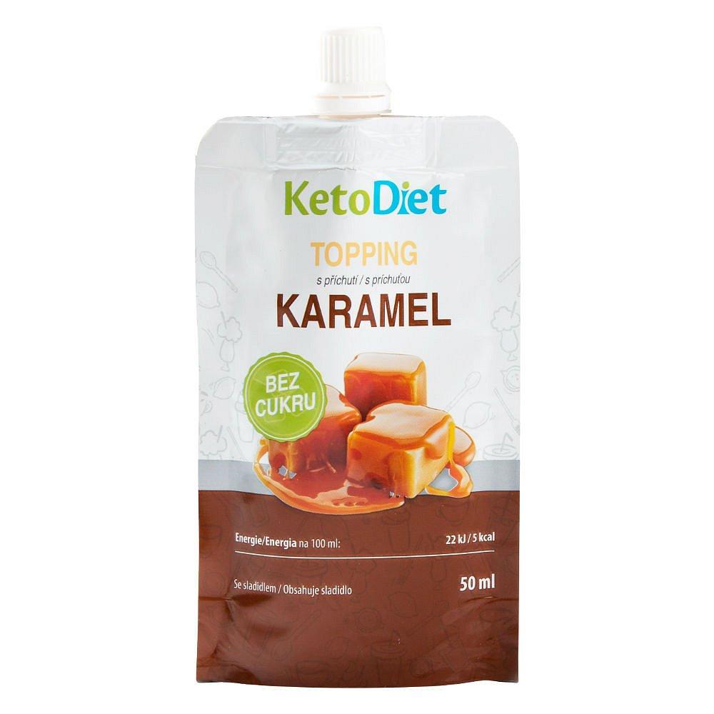 KETODIET Topping s karamelovou příchutí 50 ml