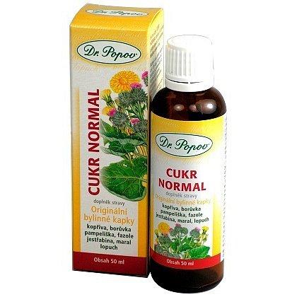 Dr.Popov Kapky bylinné Cukr normal 50ml