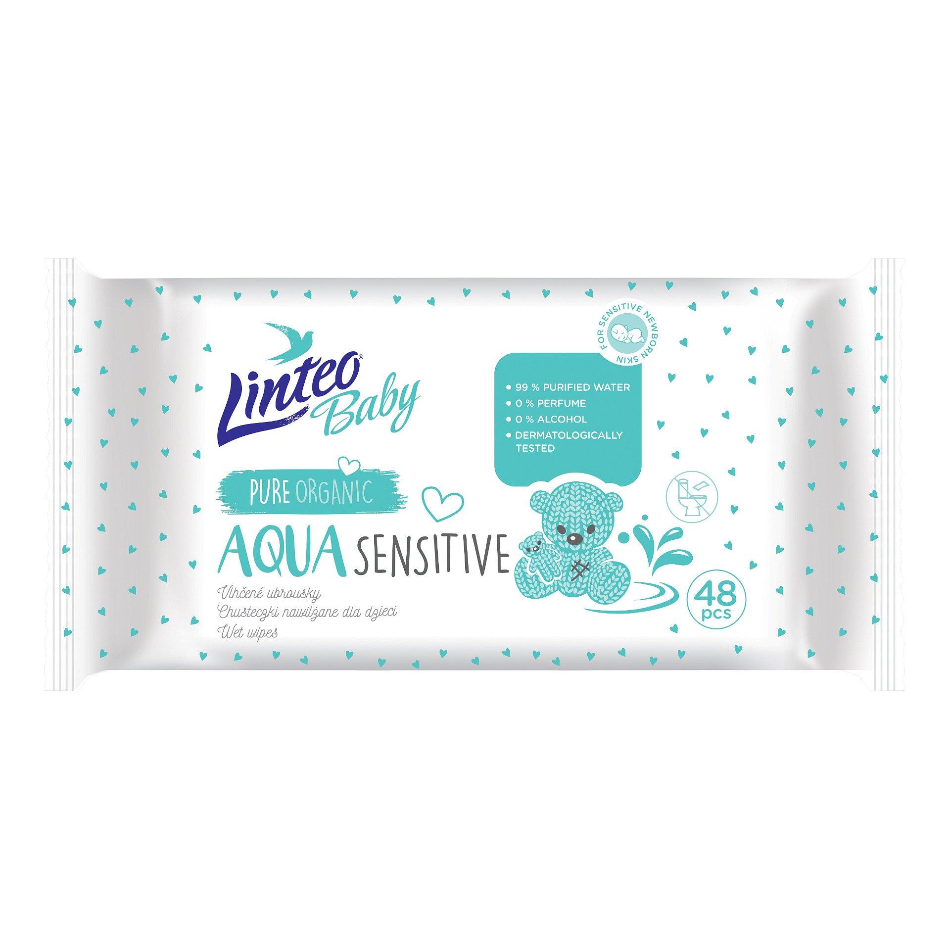 Linteo Baby Aqua vlhčené ubrousky 48 ks