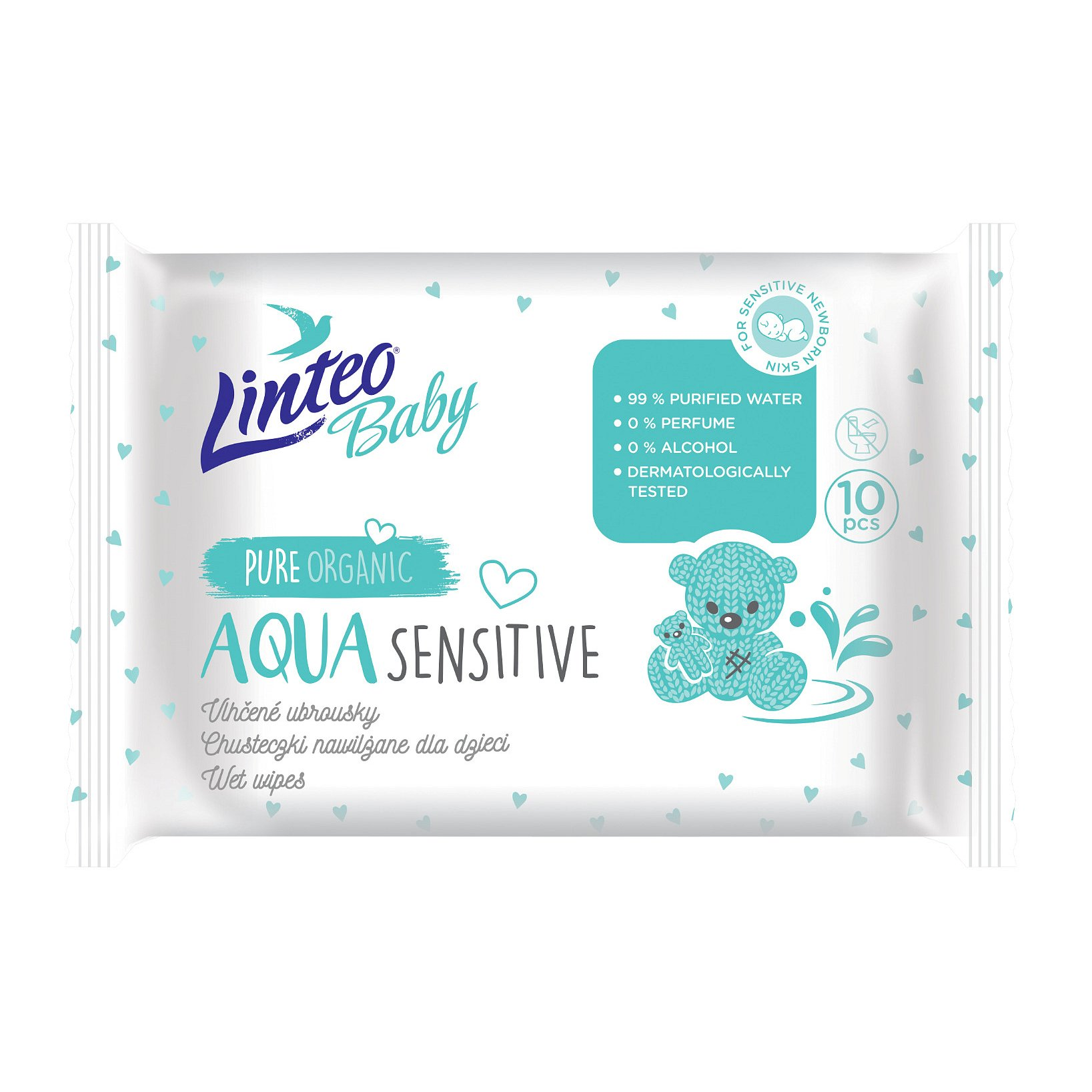 Linteo Baby Aqua vlhčené ubrousky 10 ks