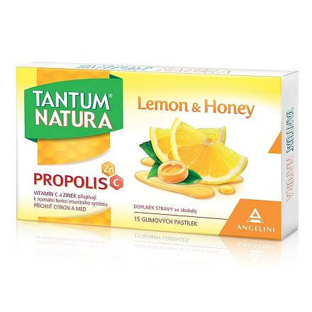 Tantum Natura Lemon & Honey gumové pastilky 15ks