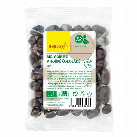 Moruše v hořké čokoládě BIO 100 g Wolfberry*