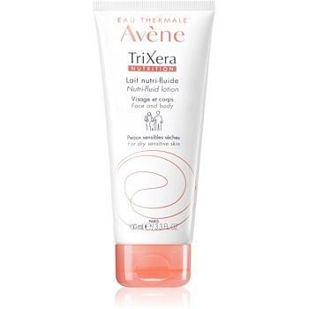 Avène TriXera Nutrition intenzivně vyživující fluidní mléko na obličej a tělo pro suchou a citlivou pokožku  200 ml